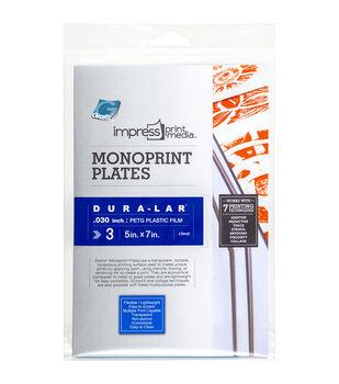 "Impress Monoprint Plates 3/Pkg-5""X7"""
