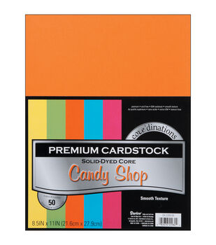 "Cardstock 8.5""X11"" 50/Pkg-Candy Shop-Smooth"