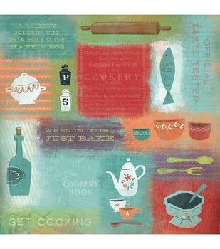 "Get Cooking - Kitchen Paper 12""x12"""