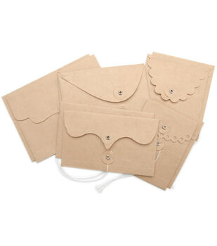 Maya Road Kraft Envelope With Flap & String Deco Edge Rectangular