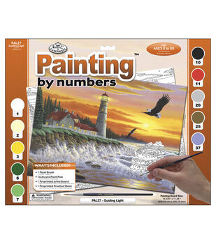15-3/8''x11-1/4'' Adult Paint By Number Kit-Guiding Light