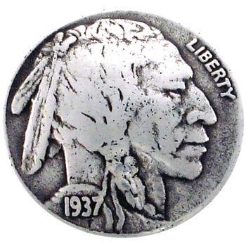 Silver Creek Concho Antique Silver Indian Nickel