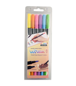 Leplume II 6 Piece Double Ended Marker Set Bright Side Colors