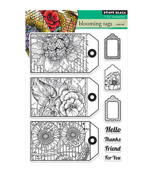 Penny Black T for Transparent Clear Stamps Blooming Tags