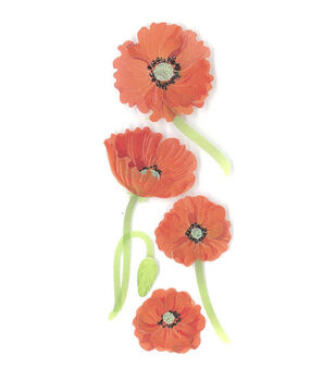 Jolee's By You Dimensional Embellishments-Mini Red Poppies
