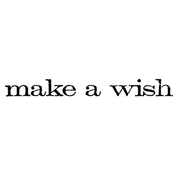 Stampers Anonymous Red Rubber Stamp Make A Wish