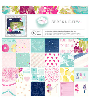 "American Crafts Paper Pad 12""X12"" 48/Pkg-Dear Lizzy Serendipity"