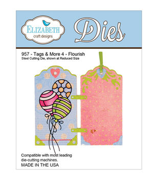 Elizabeth Craft Designs Metal Tags & More Tag 4 Flourish Dies