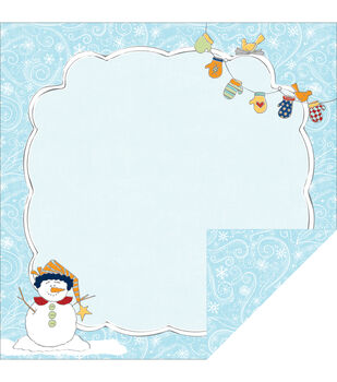 "Snow Days Double-Sided Cardstock 12""X12""-Snow Flurry"