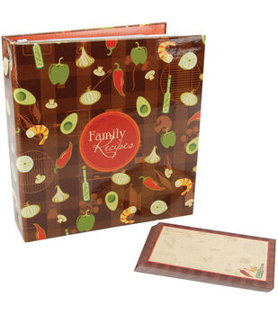 5''x7'' Family Recipes 3-Ring Scrapbook Kit-Garden
