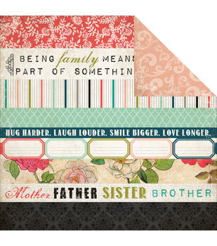 """Moments & Memories Double-Sided Cardstock 12""""X12""""-Border Strip"""