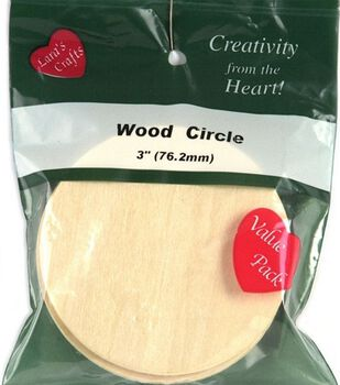 Wood Shapes Value Pack-Circle 3 1/8    6/Pkg