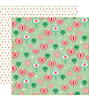 """Christmas Cheer Double-Sided Cardstock 12""""X12""""-Christmas Ornaments"""