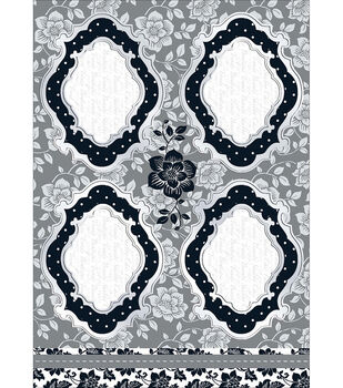 Kanban Crafts Shabby Chic Die-Cut Punch-Out-Large Frame Black