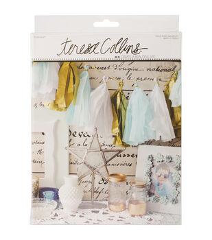 Teresa Collins Studio Gold Tissue Tassel Banner Kit-Tassel