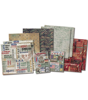 "Military Life Scrapbook Page Kit 12""X12""-"