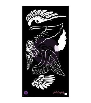 Prima Marketing Jamie Doughtery Bloom Wings Stencil
