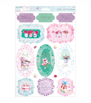 Papermania Die-Cut Frames A4 Sheet Perfect Day With Glitter Accents