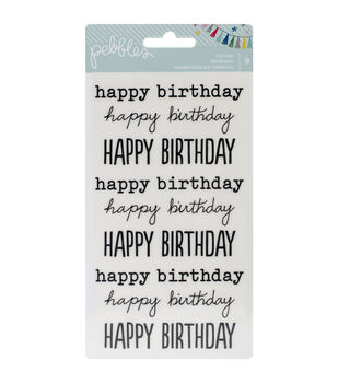 "Birthday Wishes Rub-Ons 8""X4.25""-Happy Birthday/Black"
