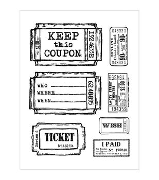 "Multicraft Clear Stamps 5.5""X7"" Sheet-Tickets"