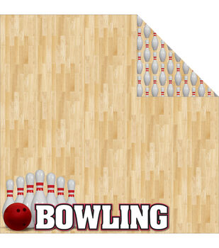 Reminisce Signature Series Bowling Double-Sided Cardstock 12''x12''