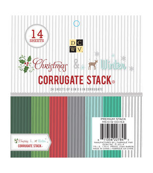 "DCWV 6""x6"" Christmas and Winter Corrugate Stack"
