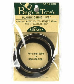 Clover Black Nickel Plastic O Ring-1-5/8'' 2/Pkg