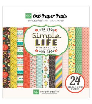 """Echo Park Paper Pad 6""""X6"""" 24/Pkg-Simple Life"""