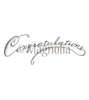"Lost & Found Cling Stamp 6""X2.75"" Package-Congratulations"