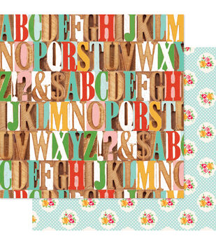 """Hall Pass Double-Sided Cardstock 12""""X12""""-S Is For School"""