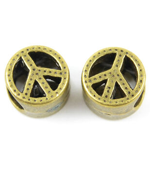 Midwest Design Paracord Antiqued Peace Slider Charm