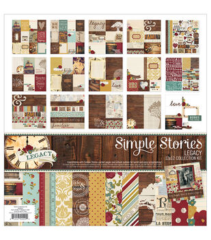 "Simple Stories Collection Kit 12""X12""-Legacy"