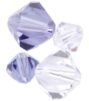 Create Your Style Swarovski Bicone Beads-Crystal Combo-Tanzanite 20/pk