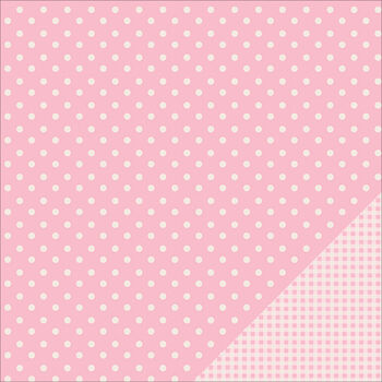 Pebbles Basics Dot Double-Sided Cardstock 12''x12''