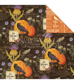 Graphic 45 Time To Flourish October Flourish Double-Sided Cardstock