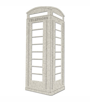 Fabscraps Die-Cut Grey Chipboard Embellishments Telephone Booth