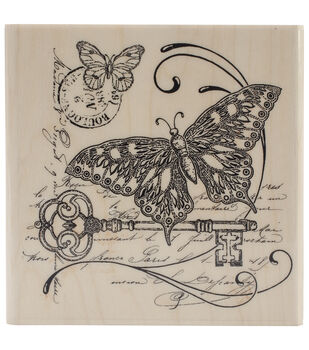 """Penny Black Mounted Rubber Stamp 4""""X4""""-Gathering Together"""