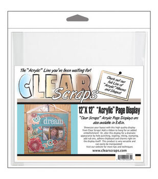 Clear Scraps 12''x12'' Acrylic Page Frame-Clear