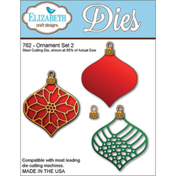 Elizabeth Craft Designs Metal Die Ornament Set 2