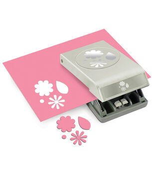 EK Success Slim Paper Punch Flowers & Leaves Large