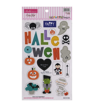 Bella Blvd Halloween Magic Chipboard Icons