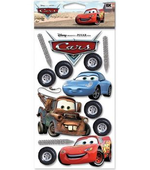 Disney Cars Dimensional Stickers-Cars