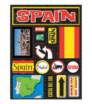Reminisce Dimensional Stickers-Spain
