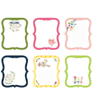 Imaginisce Spring - Welcome Spring Cardstock Journaling Tags