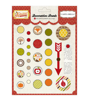 Carta Bella A Perfect Autumn Decorative Brads