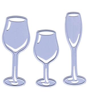 Joy! Crafts 3 Glasses Cut & Emboss Dies