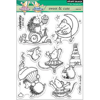 Penny Black Clear Stamps Sheet Sweet & Cute