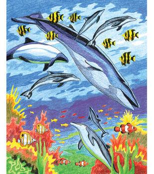 Royal Langnickel Pencil By Number Kit Sea Animals