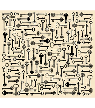 "Tissue Paper 20""X30"" 4/Pkg-Creme Keys"