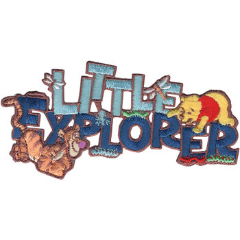 Wrights Disney Winnie The Pooh Iron-On Applique Little Explorer
